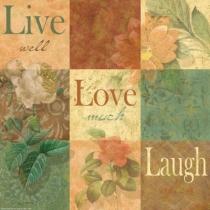 Külmkapimagnet Live-Love-Laugh