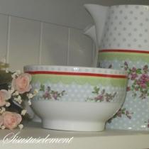 Kauss ROMANTIC ROSES roheline