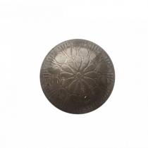 Kapinupp metallist, lillemuster, D4cm