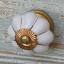 Kapinupp valge/kuldne, D4,5cm