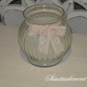 Klaasküünal pitsiga, D8cm