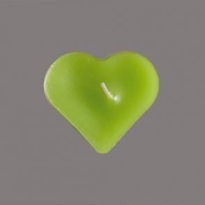 Teeküünal Süda roheline 55mm 5tk/pkk