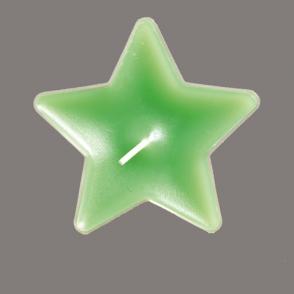Teeküünal Täht roheline 65mm 5tk/pkk