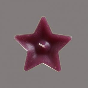 Teeküünal Täht violetne 65mm 5tk/pkk