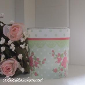Teeküünlaalus ROMANTIC ROSES roheline