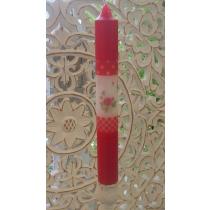 Küünal punase roosimustriga H25