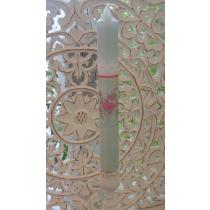 Küünal rohelise roosimustriga H25
