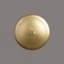 Metallik-kuldne küünal  D6cmH12cm