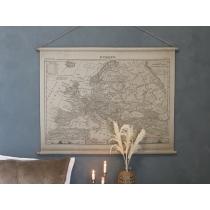 Lõuendil seinapilt Euroopa kaart 90x120cm